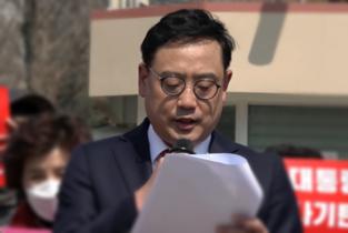 """변희재 """"박 대통령 재판부는 태블릿 증거기각하고, 즉각 무죄선고하라"""" 3일 기자회견"""