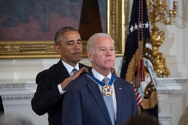 헌터 바이든의 아버지 조 바이든은 미국 민주당의 버락 오바마 전 대통령의 정치적 동지다.사진=위키피디아.