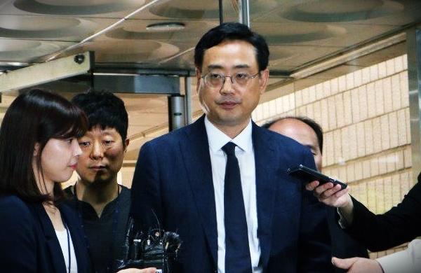 사진은 2018년 5월 30일 영장실질심사에 출석할 당시의 변희재 본지 대표고문. 변 고문은 구속 1년 만인 2019년 5월 17일 보석으로 석방됐다.