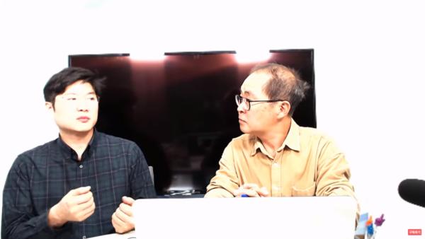 2019년 11월 3일 문갑식TV에 출연한 김휘종 전 행정관. 사진=문갑식TV 캡처.