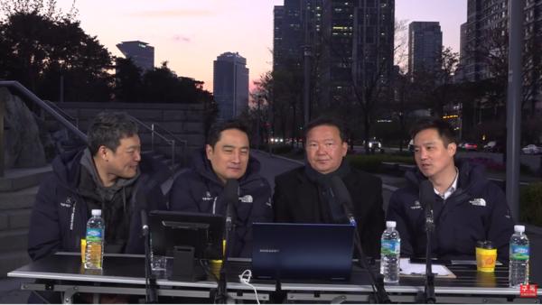 부정선거론을 주도하는 가로세로연구소에 출연한 민경욱 전 의원. 사진=캡처