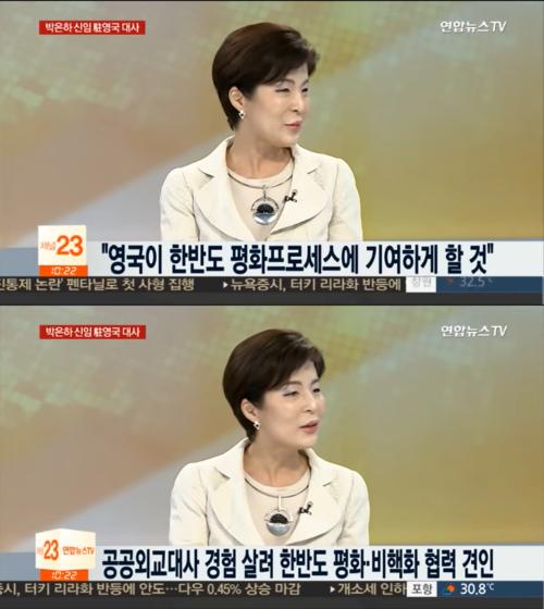 박 대사는 연합뉴스에 나와 문재인의 한반도평화프로세스를 적극 지지했다.