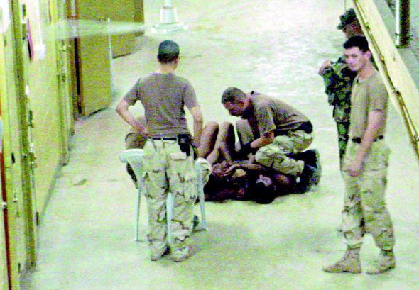 아부그라이브 교도소 사건은 2004년 미군에 의해 이뤄진 이라크군 포로에 대한 가혹 사건으로, 이로 인해 수십명의 군인 및 직원이 해임되고 7명의 군인이 군법회의에서 유죄 판결을 받았다.