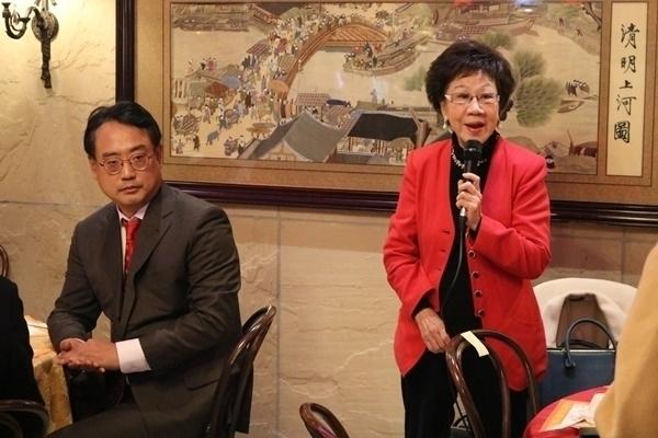 2019년 11월 변희재 대표고문(왼쪽)의 초청으로 한국을 방문했던 뤼슈렌 전 대만 부총통